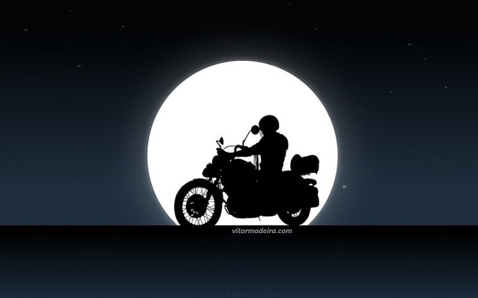 Night moto rider (by toooomelo)